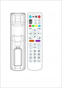 China Hard IC RF Remote Control ABS And Rubber Keypad Nice Desgin Fast Simple Settlement on sale