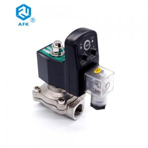 China 2W Normally Closed Brass 110 Volt Water Stainless Steel Solenoid Valve 1 inch on sale