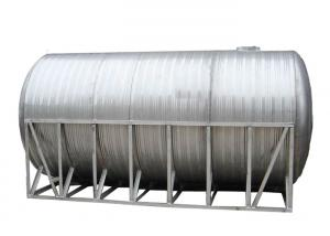 China Horizontal Water Storage Tanks With Cylinder Shape Welding Assmebling on sale