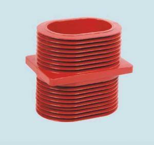 China Red Epoxy Resin Wall Insulated Bushing , Epoxy Resin Busbar Through Insulator on sale