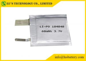 China LP104040 3.7V 60mah small Lithium Polymer Battery Cell pl104040 lithium ion batteries 3.7v 60mah for tracking system on sale