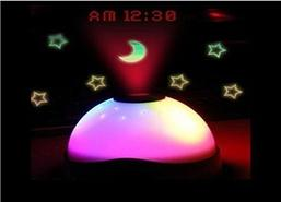 China 7 colour projection clock on sale