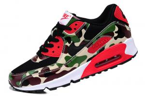 China Sell authentic Nike AIR MAX 90 couples running shoes Camouflage green men's women's shoes on sale