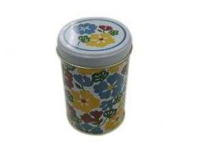 China Personalized Small Round Tin Containers With Lids 77*115hmm Food Grade Material on sale