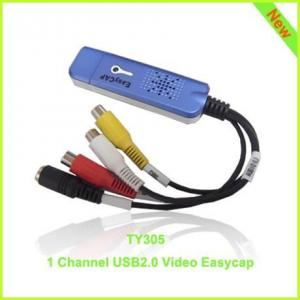 China TY305: elegant blue 1ch usb2.0 video capture card on sale