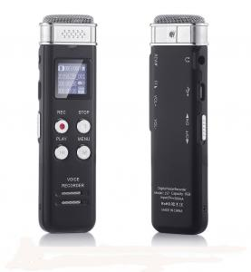 China 8GB Digital Audio Voice Sound Activated Recorder Dictaphone with MP3 Player / Auto Saving File Every 5 Seconds on sale