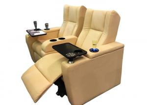China Entertainment 3 Seater Metal Base Movie Recliners on sale