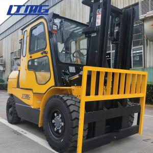 China High Mast Manual Diesel Forklift Truck 5 Ton With Cabin And Air Conditioner on sale