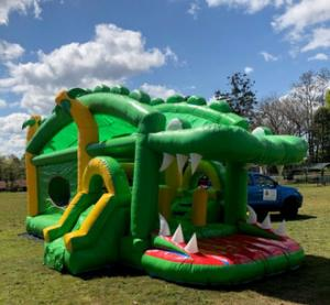 China Crocodile Inflatable Bounce House Combo Double Stitching For Family Center on sale