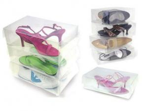China see through men's shoe storage box, clear plastic shoe box design on sale