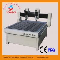 China Ball screw driving CNC engraving machine with two heads TYE-1212-2 on sale
