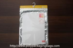 China Small Compounded Clear Poly Bags With Hangers Or Hook For T – Shirt / Sleeve on sale