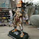 Customized life size fiberglass predator statue