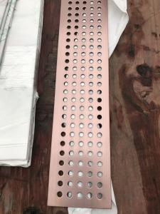 China decorative stainless steel sheet perforated metal panel brass colour on sale