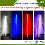 19.44w 7 inch Whip it light rod lighted flag for ATV, Camp Locator outside