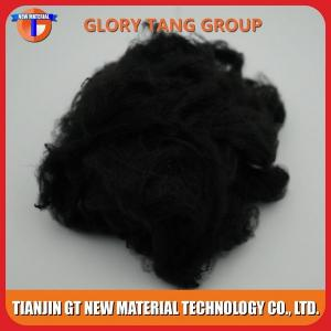 China 3Dx51mm Black Polyester Staple Fiber on sale