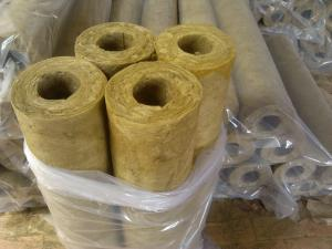 China Fireproof mineral wool insulation pipe on sale