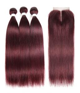 China 99J Color 100% Real Ombre Human Hair Extensions For Young Lady 8 Inch - 24 Inch on sale