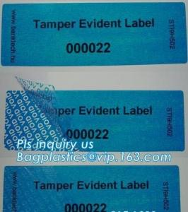 China Void Hologram labels stickers,sliver tamper evident security VOID label,adhesive moon rock pre cotton size label roll vo on sale