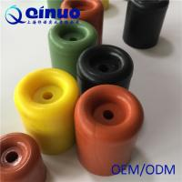 China Shanghai Qinuo Manufacture 40x25mm Colored Silicone Round Door Bumper Molded Rubber Door Stop on sale