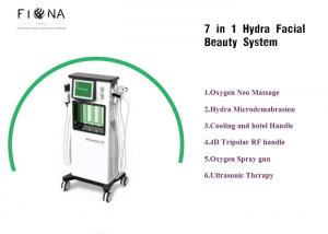 China 7 in 1 Hydra Cleaning Water Jet Beauty machine facial care oxygen equipment small bubble machine on sale