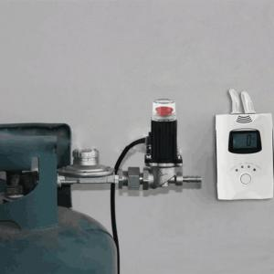 China Combustible gas alarm for home use,commercial use with shutoff valve for lpg gas cylinder on sale