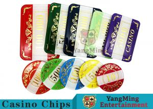 China Casino Style Numbered Poker Chip Set Bright Color With Customized Print Logo on sale