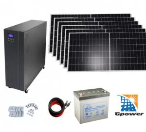 China No Pollution 10KW Off Grid Solar System Kits With Battery Storage on sale