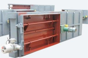 China FDGM Electric Cold And Hot Air Isolating Door For Thermal Power Plant on sale