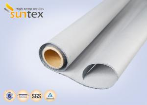 China Thermal Insulation Fabric Polyurethane Coated Fiberglass Fabric M0 Smoke Barrier Fabric 0.43mm on sale