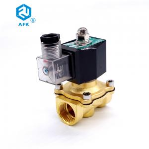 China Natural Gas 3/4 Electric Solenoid Valve , NC Viton Lpg Gas Shut Off Valve on sale