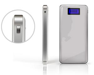 China Ultra-thin 12000mah Lion Polymer Laptop Power Bank with LED Screen on sale