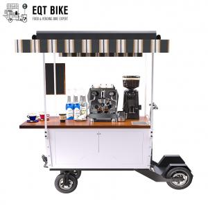 China EQT Four Wheel Electric Scooter Coffee Bike Mobile Business Scooter coffee cart on sale