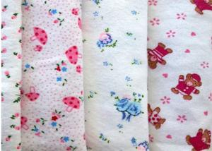 China Baby Blanket Printed Pattern 21*10 100 Cotton Flannel Fabric on sale