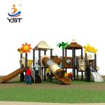Outdoor playground kid slide park amusement equipment, modern playground equipment