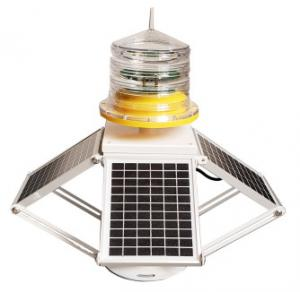 China L-864 Red Flashing 2000cd 14AH Solar Aviation Light 20W on sale