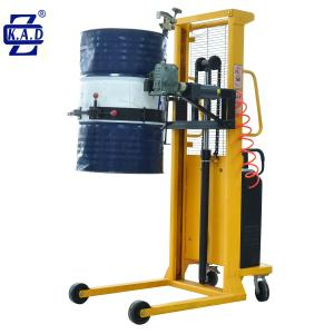 China 500kg 1500mm Fiber Pneumatic 44 Gallon Hydraulic Drum Lifter on sale