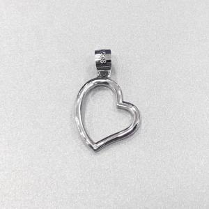 China Wedding Sterling Silver Heart Pendant / Solid Silver Pendant Without Stone on sale