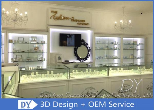 Glossy White Used Jewelry Showcases Jewellery Shop Showcase Design For Sale Jewelry Display Showcase Manufacturer From China 109052243
