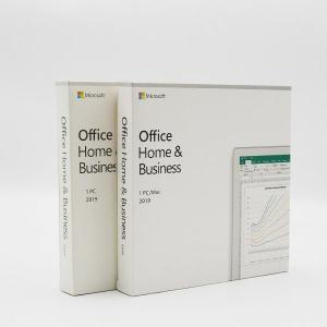 China Russian Language Microsoft Office 2019 Home And Business PKC Retail Box on sale
