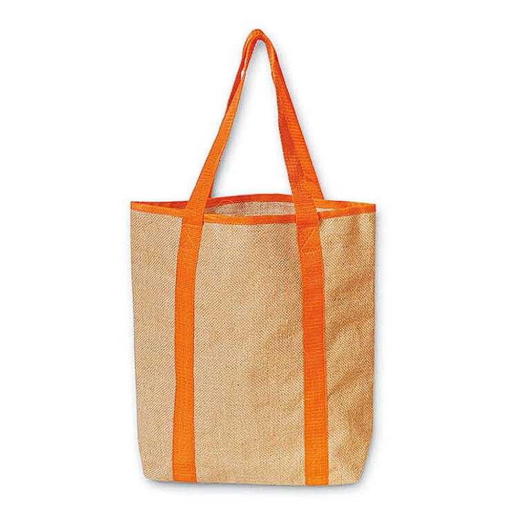 Promotional Custom Printed 350gsm Jute Tote Bag OEM ...
