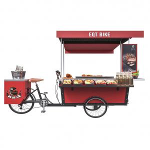 China Stainless Grilled Food 50km/H BBQ Tricycle Hot Dog Cart on sale