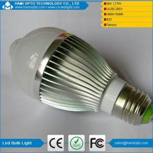 China PIR E27 5W LED Bulb Human Infrared Auto Motion Sensor Light White Lamp AC85-265V on sale
