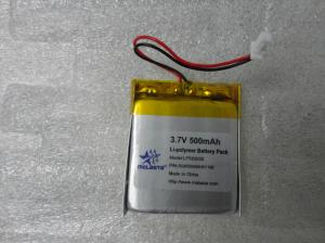 China Customized Polymer Li-ion Battery Pack 3.7V 500mAh on sale