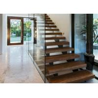 China stainless steel handrail staircase with tempered glass railing and top handrail on sale