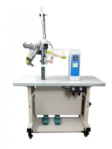 China Computerized Waterproof Strip Hot Air Seam Sealing Machine , PLC Glue Press Machine on sale
