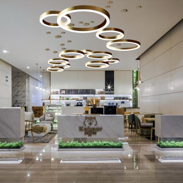 Gold Round Ceiling Pendant Lights