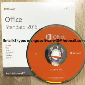 China Original Computer Software System Office 2016 Standard For 1 PC Lifetime Warranty on sale