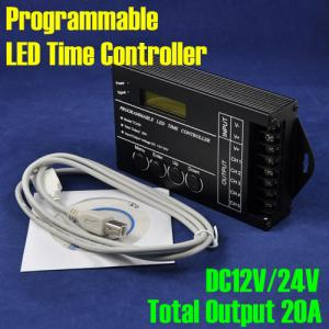 China Emall Lights DC12V/24V 5 Channel LED Programmable Time Controller best review controllers on sale