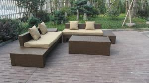 China Plastic Rattan Furniture Soft Set With 100x100x70cm Middle Sofa on sale